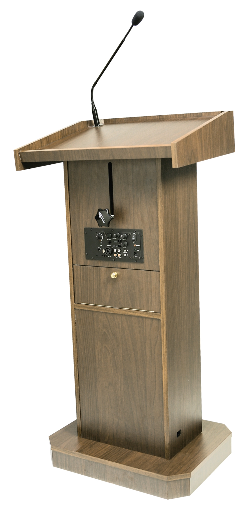 basic lectern with mic